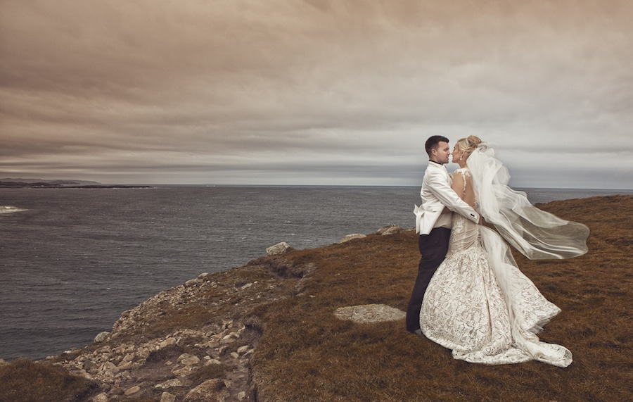 Naama and Anat, Naama and Anat Haute Couture, Irish Wedding, couture wedding gown, wedding dress, Ireland, Harveys Point, Glendowan, bride, groom