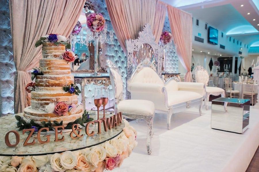 Naama and Anat, Naama and Anat Haute Couture, couture wedding gown, wedding dress, Lavish London Wedding, Goddess Gown, Coban Wedding Photography, wedding reception, wedding cake