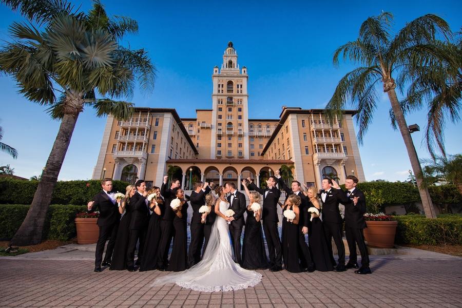 Naama and Anat Haute Couture, glamorous Miami wedding, wedding gown, Naama and Anat Bridal, wedding dress, bridal couture, couture bridal, bridal designer, wedding gown, real wedding, glamorous wedding, Miami Biltmore Hotel, wedding party, bridesmaids, groomsmen