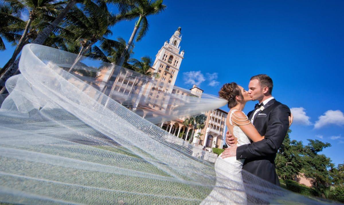 Naama and Anat Haute Couture, glamorous Miami wedding, wedding gown, Naama and Anat Bridal, wedding dress, bridal couture, couture bridal, bridal designer, wedding gown, real wedding, glamorous wedding, Miami Biltmore Hotel, wedding veil